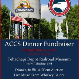 Sept 22 – Fundraising Event for Charter School in Tehachapi